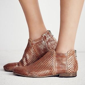 Free People Bronze Clean Slates Ankle Booties